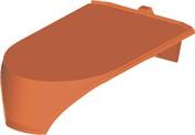 Closoir casson de faîtage pour tuiles AQUITAINE POUDENX, MEDIANE GELIS, CANAL GELIS et CANAL POUDENX coloris paysage - Porte d'entrée Aluminium GEOD droite poussant haut.2,15m larg.90cm laqué gris - Gedimat.fr