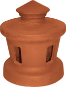Lanterne diam.120mm petit modèle pour tuiles à douille coloris rouge vieilli - Tuile à douille PV13/H14/LOSANGEE diam.120mm coloris rouge - Gedimat.fr