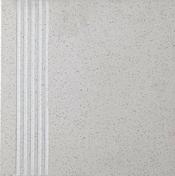 Plat de marche carrelage pour sol en grès cérame pleine masse DOTTI dim.30x30cm coloris ivory - Porte d'entrée AKITA avec isolation totale de 160 mm en acier gauche poussant haut.2,15m larg.90cm laqué gris - Gedimat.fr