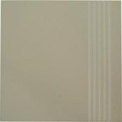 Plat de marche carrelage pour sol en grès cérame pleine masse UNI dim.30x30cm coloris beige ivory - Tuile de rive verticale droite TBF coloris vieilli terroir - Gedimat.fr