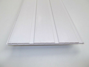 Lambris PVC blanc lame larg.25cm long.4m - Raccord à coller Haut.300mm - Gedimat.fr