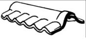 Faîtière double à charnières pour plaques ondulées PLAKFORT teinte naturelle - Poutrelle en béton LEADER 113 haut.11cm larg.9,5cm long.3,60m coutures - Gedimat.fr