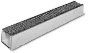 Caniveau béton DRAINECO 90H90 haut.int.9cm haut.ext.11,5cm larg.int.80cm larg.ext.13cm long int.1m long ext.1m - Caniveaux - Matériaux & Construction - GEDIMAT