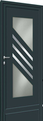 Porte d'entrée NAYO en aluminium laqué droite poussant haut.2,15m larg.90cm gris - Coude laiton fer/cuivre 92GCU mâle diam.15x21mm à souder diam.14mm - Gedimat.fr