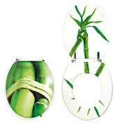 Abattant WC en bois compressé 3,4kg charnières inox coloris décor végétal - Abattants et Accessoires - Salle de Bains & Sanitaire - GEDIMAT