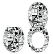 Abattant WC en résine polyester 3,7kg charnières inox décor Pics - Abattants et Accessoires - Salle de Bains & Sanitaire - GEDIMAT