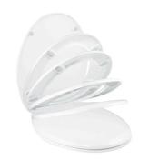 Abattant WC thermodur frein de chute 2,4kg coloris blanc - Extracteur mural extra plat avec temporisateur diam.10cm en ABS blanc - Gedimat.fr