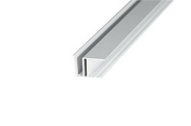 Profil obturateur blanc pour polycarbonate 16 mm long.0,98m - Kit Rive portante blanc pour plaque polycarbonate long.4m - Gedimat.fr