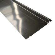 Bande de rive ou d'astragale zinc prépatiné développé 250mm ép.0,65mm long.2m - Bande de rive en zinc naturel ép.0,65mm dév.20cm long.2,00m - Gedimat.fr