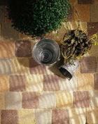 Pavé CAROSTYLE en béton ép.4cm dim.10,3x10,3cm coloris pierre - Meuble de cuisine CACHEMIRE armoire four 2 portes haut.200cm larg.60cm - Gedimat.fr