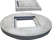 Couvercle de buse béton diam.int.1m avec trou de visite diam.50cm - Porte de service isolante VANNES en PVC ISO140 Blanc droite poussant haut.2,00m larg.80cm - Gedimat.fr