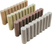 Bordurette b�ton cannel�e �p.6cm haut.20cm long.50cm coloris sable - Gravier marbre blanc calibre 8/16 sac de 25kg - Gedimat.fr