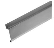 Bande de solin à biseau zinc naturel développé 166mm ép.0,65mm long.2m - Faîtière/Arêtier angulaire à emboîtement coloris rouge - Gedimat.fr