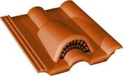 Tuile châtière grillagée DOUBLE ROMANE coloris brun - Tuile de rive gauche universelle gauche DOUBLE ROMANE coloris brun - Gedimat.fr