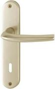 Ensemble de poignées de porte SAN DIEGO sur plaque en aluminium entraxe 165mm finition champagne avec trou de clé - Poutre en béton précontrainte PSS LEADER section 20x20cm long.3,10m - Gedimat.fr