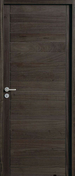 Bloc-porte SALSA en bois exotique haut.2,04m larg.93cm droit poussant finition gris graphite - Bloc-porte FUJI haut.2,04m larg.83cm gauche poussant revêtu mélaminé finition gris basalte - Gedimat.fr