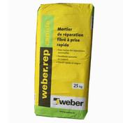 Mortier de réparation fibré WEBER.REP RAPIDE sac de 25kg - Mortier de réparation fibré WEBER.REP STRUCTURE sac de 25kg - Gedimat.fr