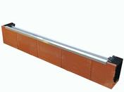 Coffre de volet roulant en terre cuite léger GENOVA ép.20cm haut.29cm long.101cm - Fronton petit modèle pour faîtière 1/2 ronde et faîtière conique coloris rouge - Gedimat.fr