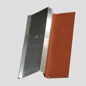 Bande de rive zinc/plomb plissé ép.0,65mm long.2m larg.20cm coloris rouge - Tuile DELTA 10 coloris rouge nuance - Gedimat.fr