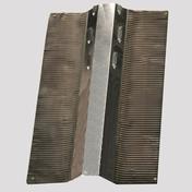 Closoir rigide ventilé plomb long.2m larg.12cm coloris gris - Closoirs - Couverture & Bardage - GEDIMAT