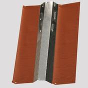 Closoir rigide ventilé plomb long.2m larg.12cm coloris rouge - Closoirs - Couverture & Bardage - GEDIMAT