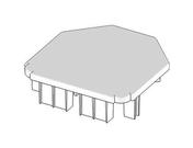 Capuchon polycarbonate gris  - Porte-verre carre mat TOKIO chromé - Gedimat.fr