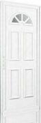 Porte d'entrée PVC GALLUS gauche poussant haut.2,00m larg.80cm blanc - Porte seule RHEDA haut.2,04m larg.83cm revêtu mélaminé finition érable clair - Gedimat.fr