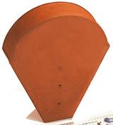 Fronton grand modèle coloris rouge - Tuile GALLEANE 12 coloris rouge - Gedimat.fr