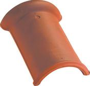 Faîtière 1/2 ronde à emboîtement coloris ardoisé - Fronton pour faîtière 1/2 ronde à recouvrement coloris ardoise - Gedimat.fr