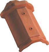 About de faîtière losangée à emboîtement coloris rouge - Tuile en terre cuite CANAL MIDI PATINEE coloris toit de récupération - Gedimat.fr