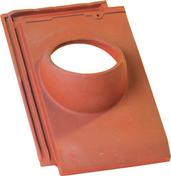 Tuile à douille HP10 HUGUENOT diam.150mm coloris flammé rustique - Tuile châtière pour tuiles CANAL GELIS et CANAL 230-50 POUDENX coloris pastel - Gedimat.fr