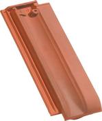 Demi-tuile PV10 coloris ardoise - Rive à rabat gauche à emboîtement ROMANE SANS coloris brun rustique - Gedimat.fr