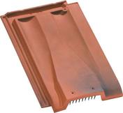 Tuile de ventilation PV10 HUGUENOT coloris flammé rustique - Porte de garage basculante tablier métallique nervuré avec rail et débord haut.2,125m larg.3,00m - Gedimat.fr