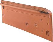 Rive individuelle droite à emboîtement pour tuile HP10 HUGUENOT coloris ardoisé - Panneau de Particule Surfacé Mélaminé (PPSM) ép.8mm larg.2,07m long.2,80m Teck de Samoa finition Mat - Gedimat.fr