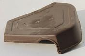 Fronton de rive universelle coloris vieilli - Mamelon laiton brut réduit 245 mâle diam.26x34mm / mâle diam.15x21mm sous coque 1 pièce - Gedimat.fr
