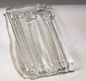 Tuile de verre S14 JACOB - Tuile châtière passe-barre PLATE 17x27 + grille coloris terre de Beauce - Gedimat.fr