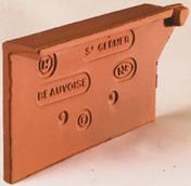 Rive individuelle gauche à recouvrement BEAUVOISE coloris flammé rustique - Poutre VULCAIN section 25x40 cm long.6,00m pour portée utile de 5,1 à 5,60m - Gedimat.fr