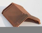 Faîtière à emboîtement VALOISE coloris flammé rustique - Manchon acier galvanisé 280 réduit mâle diam.15x21mm mâle diam.12x17mm - Gedimat.fr