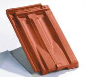 Tuile de ventilation STANDARD 14 + grille coloris rouge ancien - Tuile à douille CANAL MIDI diam.100mm coloris paille - Gedimat.fr