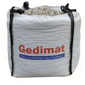 Gravillon en big bag 1m3 - Chaînage sismique Z3 section 8x8 cm 4HA10 3,45m - Gedimat.fr