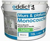 Peinture monocouche satinée acrylique blanc 10L - Enduit bandes à joint en pâte BOSTIK seau de 5kg - Gedimat.fr