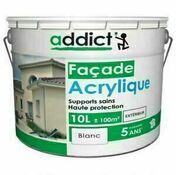 Peinture acrylique façade 10L ton pierre - Primaire façade IPF bidon de 10L blanc - Gedimat.fr