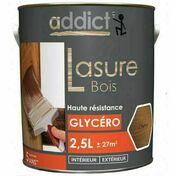 Lasure bois int�rieur/ext�rieur phase solvant semi-pelliculaire aspect satin� cir� noyer 2,5L - Traitements curatifs et pr�ventifs bois - Couverture & Bardage - GEDIMAT