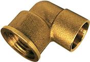 Coude laiton fer/cuivre 90GCU femelle diam.15x21mm à souder diam.14mm - Coude laiton fer/cuivre 92GCU mâle diam.15x21mm à souder diam.14mm - Gedimat.fr