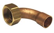 Raccord 2 pièces coudé laiton/cuivre à écrou prisonnier diam.15x21mm pour tube diam.14mm 1 pièce sous coque - Coude laiton égal mâle 20x27 pour raccord tuyau diam.25mm - Gedimat.fr