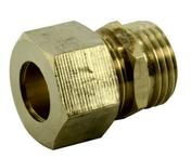 Raccord union laiton brut bicône à visser mâle diam.15x21mm pour tube cuivre diam.12mm sous coque 1 pièce - Fronton pour rives verticales DC12 et DCL coloris noir brillant - Gedimat.fr