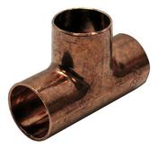 Té cuivre à souder égal femelle-femelle 130CU diam.18mm sur carte de 1 pièce - Bouton double poussoir pour mécanisme WC WIRQUIN - Gedimat.fr
