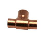 Té cuivre à souder réduit diam.16x14x16mm 1 pièce - Bouton double poussoir pour mécanisme WC WIRQUIN - Gedimat.fr
