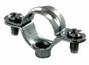 Collier de fixation acier superchromaté simple pour tube rond diam.32mm sous coque de 5 pièces - Attente L 15x70 HA8 crosse sécurité - Gedimat.fr