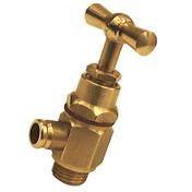 Robinet purgeur équerre laiton brut diam.8x13mm avec lien 1 pièce - Radiateurs eau chaude - Chauffage & Traitement de l'air - GEDIMAT